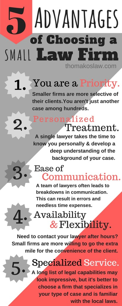 5 Advantages to Choosing a Small Law Firm Infographic